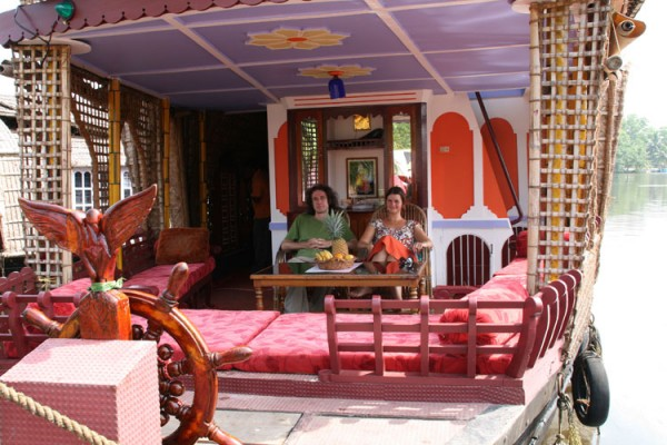 The main living area of our houseboat