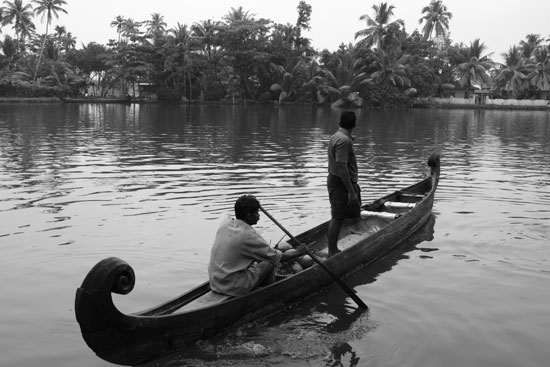 Kerala backwaters canoe