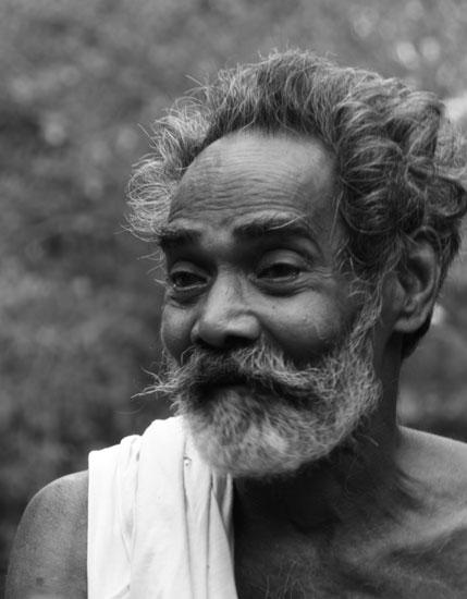 Local man in Kerala backwaters