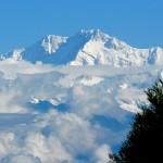 Kanchanjanga peak of the Himalayas from Darjeeling