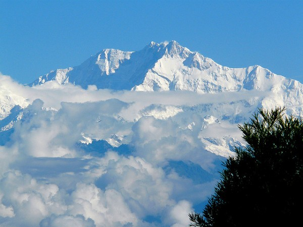 Kanchanjanga peak of the Himalayas from Darjeeling