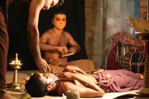 Kathakali makeup in Cochin, Kerala
